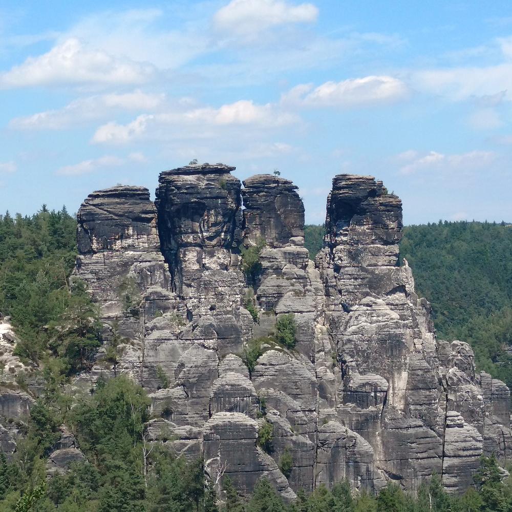 Felsformation aus der Sächsischen Schweiz